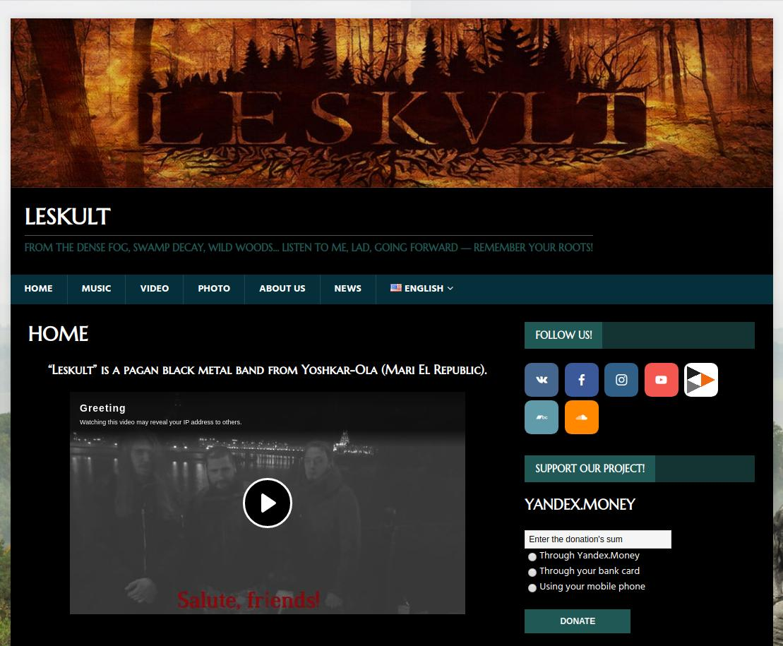 LESKVLT dynamic webpage